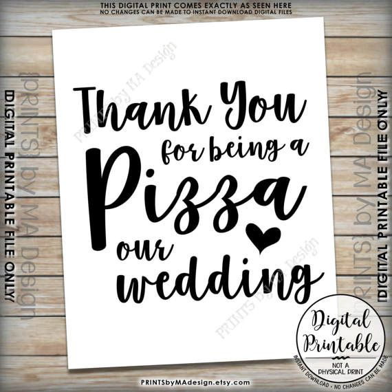 Digital Files Party Table Decor Food Table Sign Party Table Sign Wedding Table Decor Instant Download Pizza Station Sign
