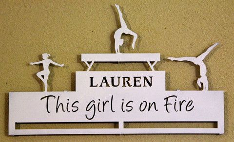 This girl is on fire! Gymnastics medal display