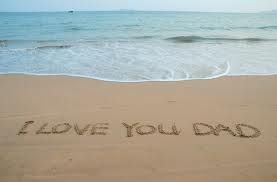 Great idea for Beach Picture photo or words written to parents in sand at a beach wedding.
