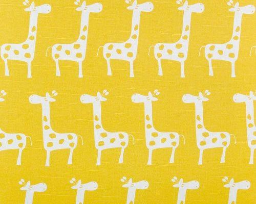 Yellow giraffe fabric