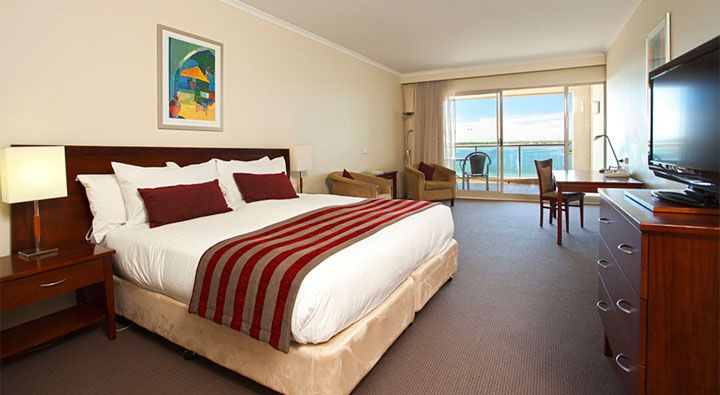A Deluxe King Room at Rydges Port Macquarie. #Hotel.