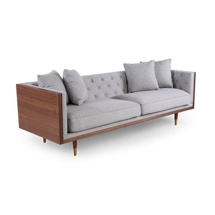 ledger sofa  reviews  allmodern  sofa grey upholstery