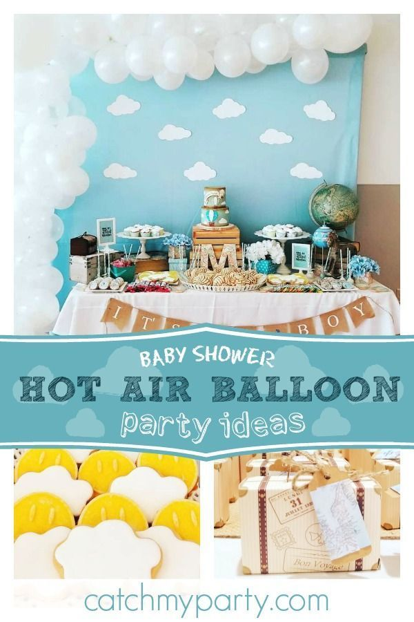 Hot Air Balloon Baby Shower Hot Air Balloon Baby Shower Hot Air Balloon Baby Shower Hot Air Ballon Baby Shower Baby Shower Party Planning