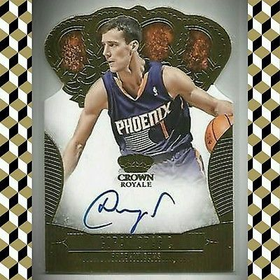 ■1/1 GORAN DRAGIC Crown Royale Dir-Cut AUTO #'d 7/10 ▪JERSEY NUMBER▪ Miami Heat