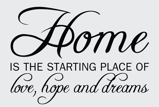 Romanceishope: Home Is The Starting Place Of Love, Hope And Dreams