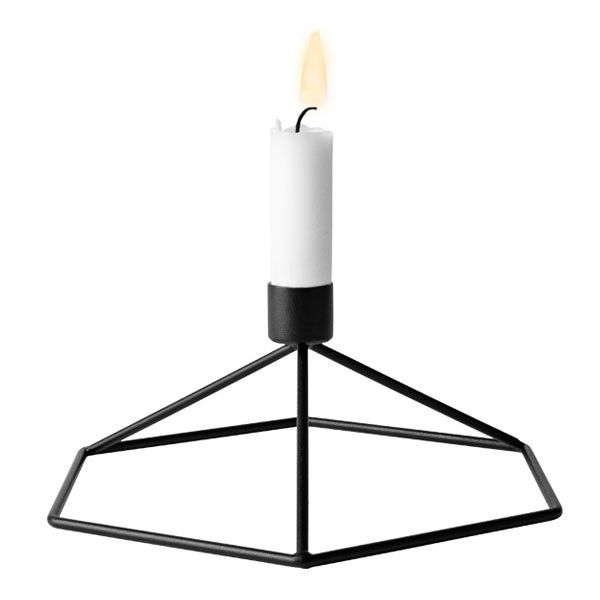 Black POV Table Candleholder by Note for Menu