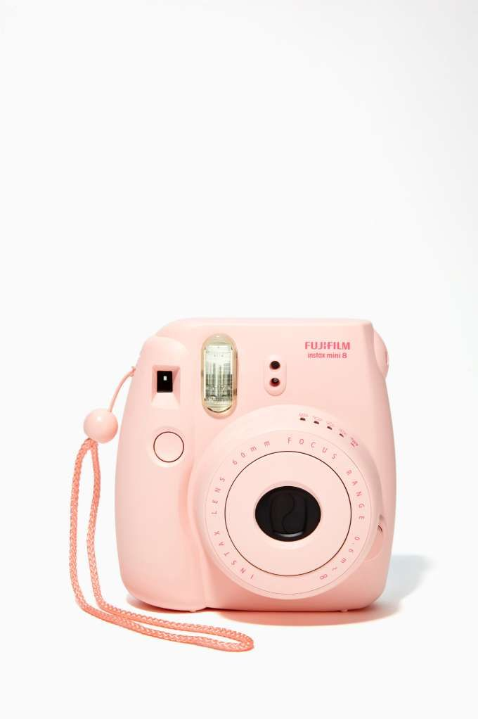 The throwback gift that is making a big comeback . . . and enables the recipient to share with subjects both willing and unwilling: Fujifilm Instax Mini 8 Instant Camera in pink via @NASTY GAL #pink #instant_camera