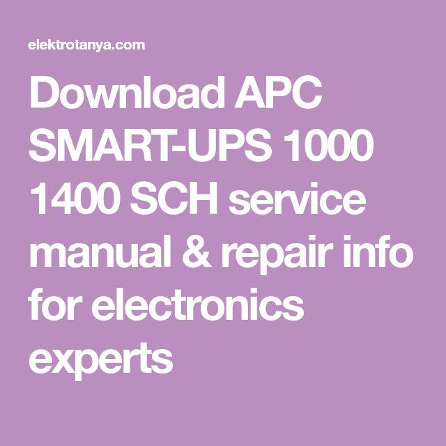 Download APC SMART-UPS 1000 1400 SCH service manual & repair info