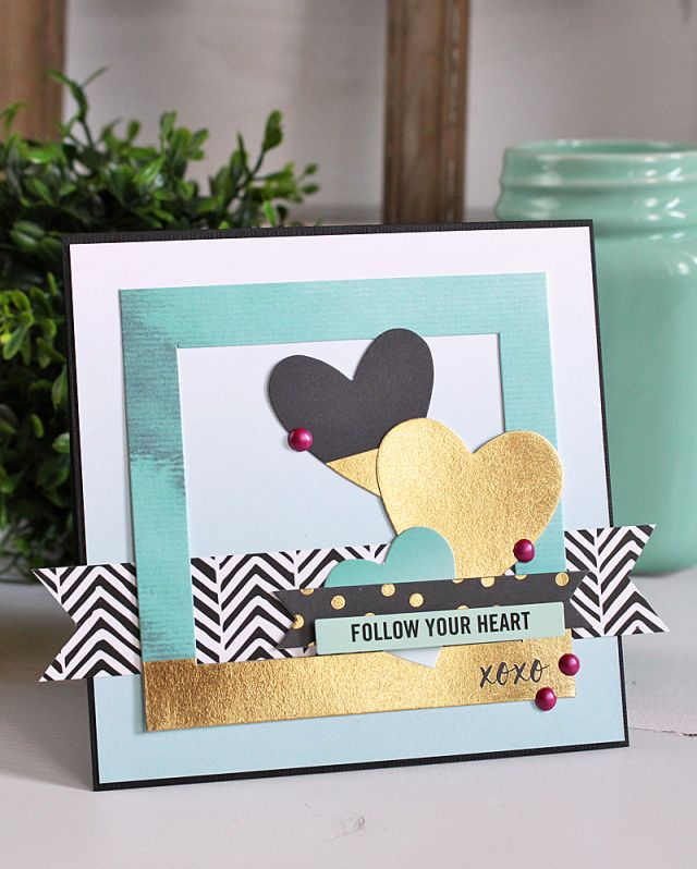 Follow Your Heart Card by Kimberly Crawford for We R Memory Keepers