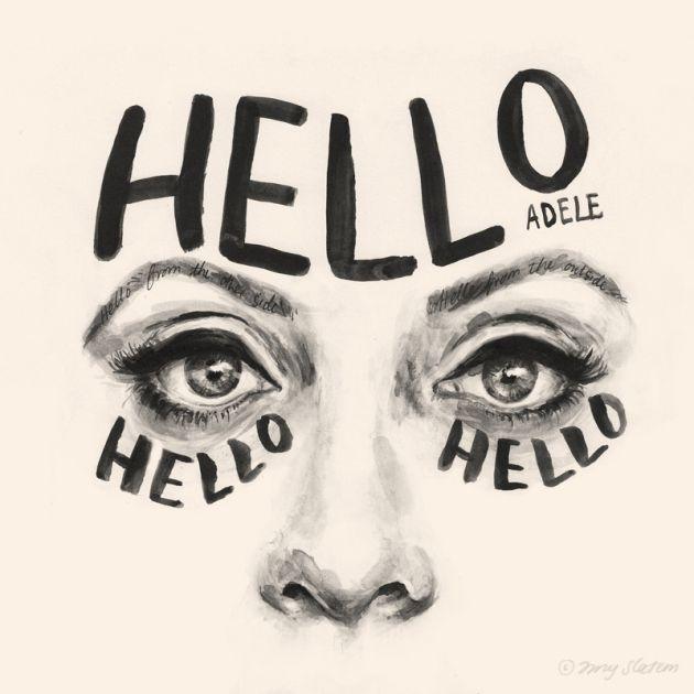 Adele-eyes by Amy Slatem