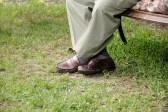 Zapatos de la vejez