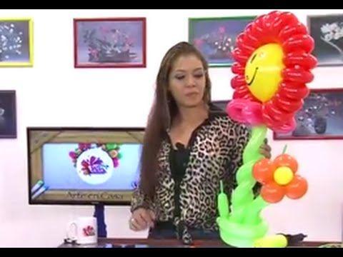 Globoflexia-Como hacer una Flor con Globos inflables - Hogar Tv por Juan Gonzalo Angel - YouTube