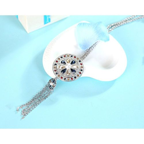 Fashion Women Lady Jewelry Pendant Disc Long Chain Tassel Sweater Necklace