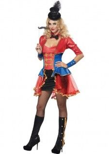 Een circusartiest pakje voor dames. Dit circus pakje is een compleet kostuum met het hoedje, de snor op het stokje, de halsband met strik,  het jurkje met halve mouwen, de polsbanden en zelfs de laars look kousen. Dit circus pakje in is een productie van California Costumes en leuk voor carnaval of een ander themafeest. Nu ruim 50% afgeprijsd omdat dit kostuum uit productie is!   Set bestaat uit: - Circus Hoedje - Circus Strik - Stokje met Snor - Circus Jurkje - Polsbanden - Laars look…