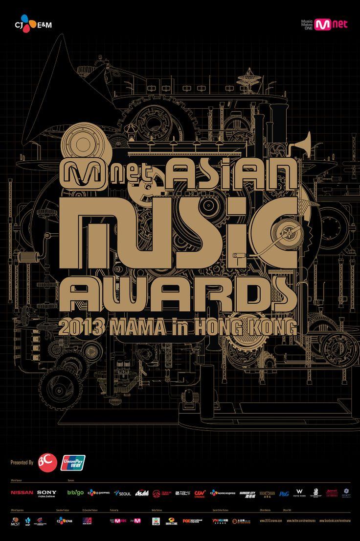 Design poster k3 - 2013 Mnet Asian Music Awards Poster