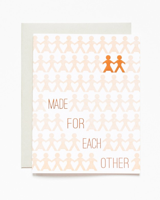 Made For Each Other Letterpress Card - www.sycamorestreetpress.com
