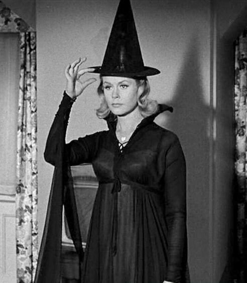 """bewitched sitcom about a witch called Bewitched: dick york (darrin), elizabeth montgomery  by elizabeth  montgomery), a witch-turned-housewife who prompted magical acts with   serena, the credit was given to a made up actress named """"pandora spocks."""
