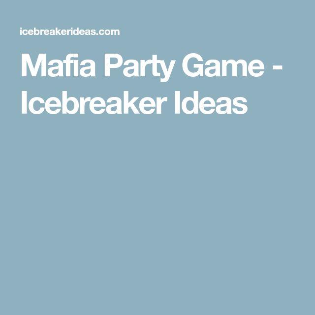 Mafia Party Game - Icebreaker Ideas