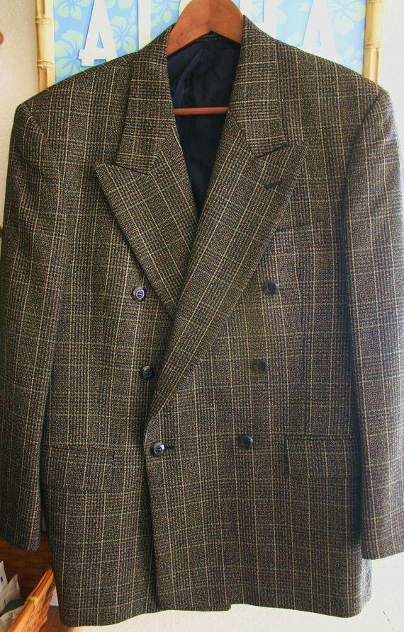 Fantastic Vintage 60's-70's Pure Cashmere Supper Lux Aldo Conti Italian Sports Jacket Hipster Chic!