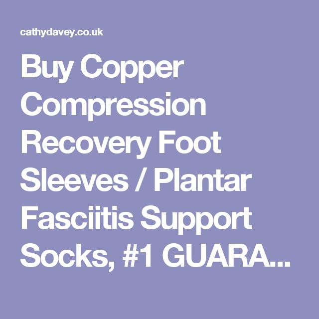 Buy Copper Compression Recovery Foot Sleeves / Plantar Fasciitis Support Socks, #1 GUARANTEED Highest Copper Content! For Relief Of Heel Spurs, Arch Pain, Foot Swelling & Ankle Injuries (1 PAIR) Medium