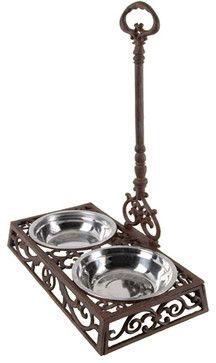 Standing Dog Bowl - mediterranean - pet accessories - atlanta - Iron Accents