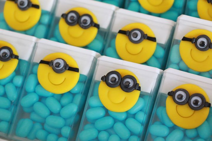 Tic tacs at a Despicable Me Minions birthday party! See more party planning ideas at CatchMyParty.com!