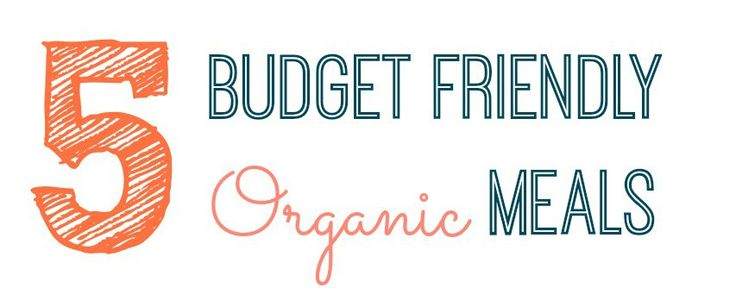 5 Budget Friendly Organic Meals: A series where I will post a list of budget friendly organic meals that my family enjoys