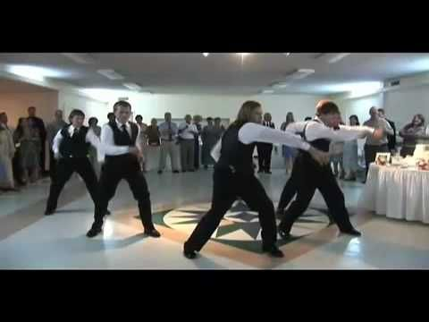 Thriller wedding dance. Great routine. More funny videos at http://www.facebook.com/funnyweddingvideos
