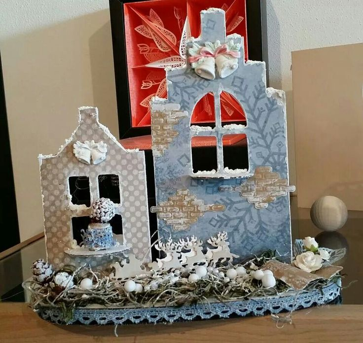 Dutch Doobadoo mdf Art Huisjes Door Jenine