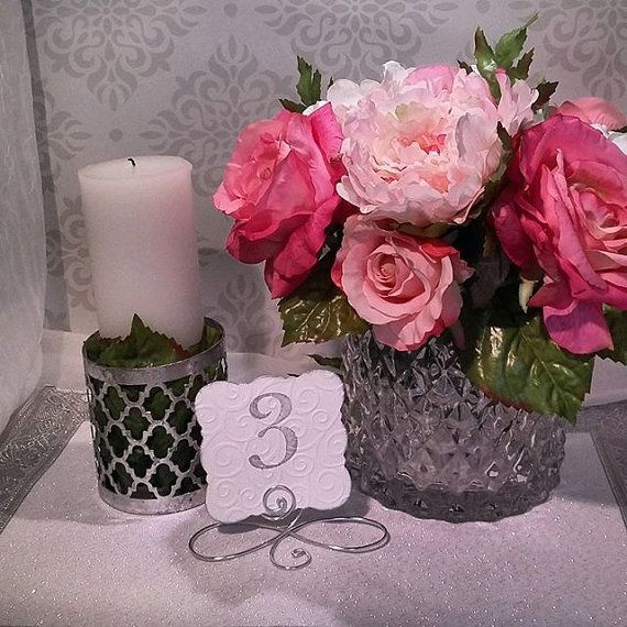20 infinity bow table number holders black gold or silver table wedding number stands