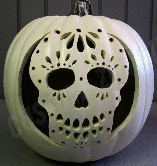 Sugar Skull Pumpkin ☆ | halloween. | Pinterest | Paint ...