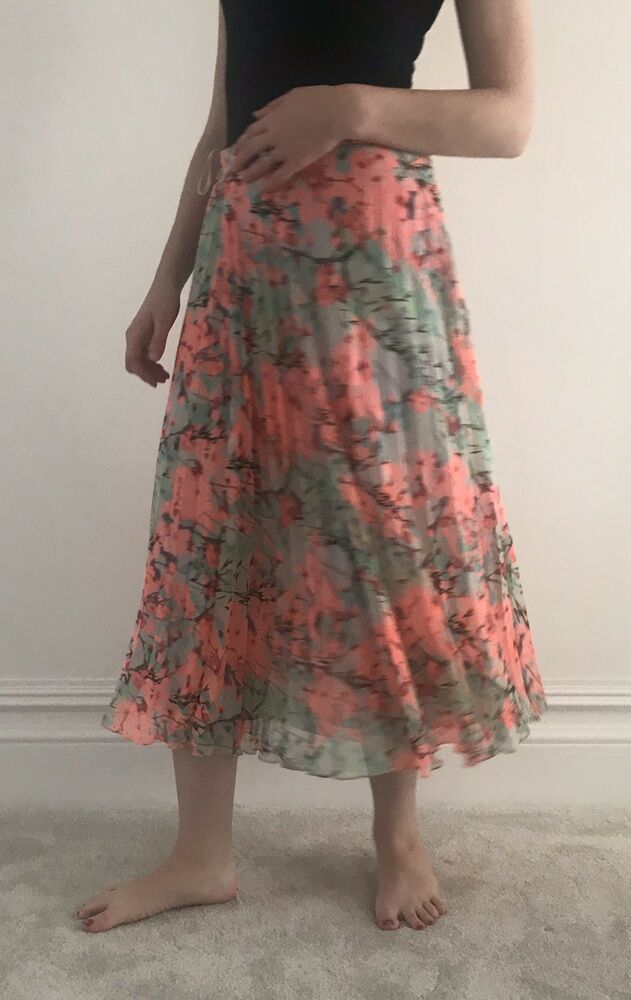 various colors popular brand hot-selling latest Autograph M&S Pleated Floral Skirt Size 12 #fashion ...