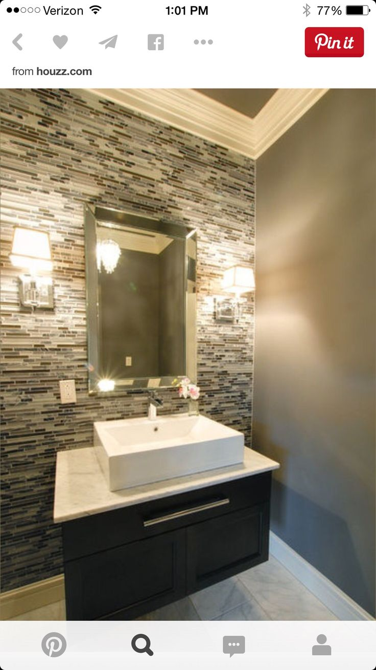 Amir Bathroom Backsplash Tiles With Simple Vanity And