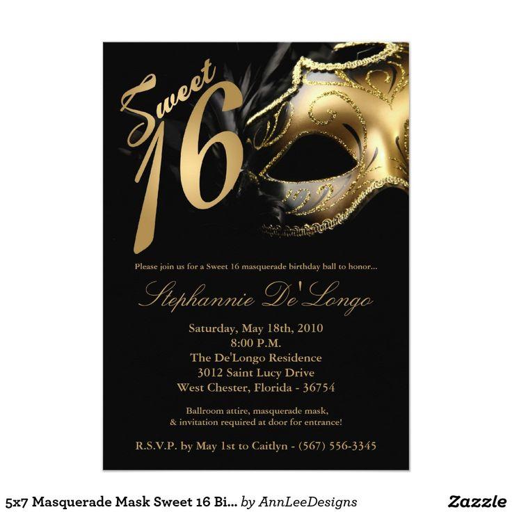 8 best invitation ideas images on Pinterest | Invitation ideas, Mask ...