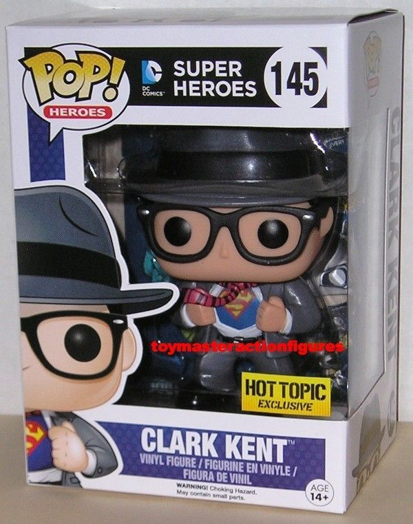 Hot Heroes Topic Exclusive Funko Clark Pop Figure Kent145 Dc Rare dBCWroxe