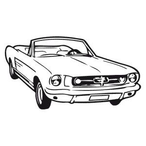 Tatouage ephemere Ford Mustang  http://tattoofab.com/fr/