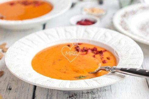 Sopa de lentejas rojas con Thermomix