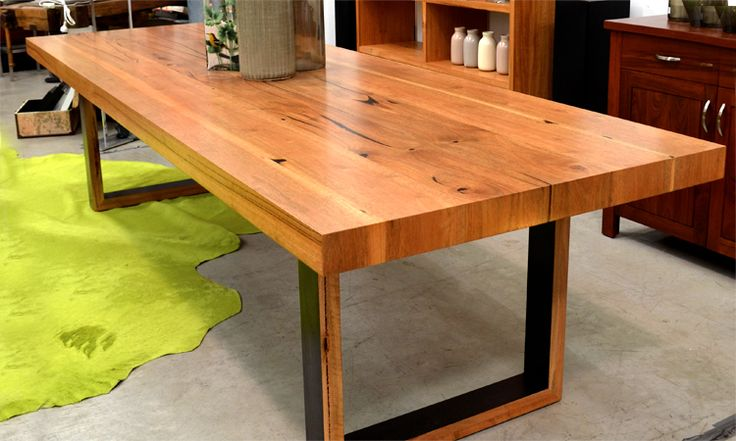 Marri Dining Table - Another option. Black legs touches aesthetic seen in 'Din' side table and console table
