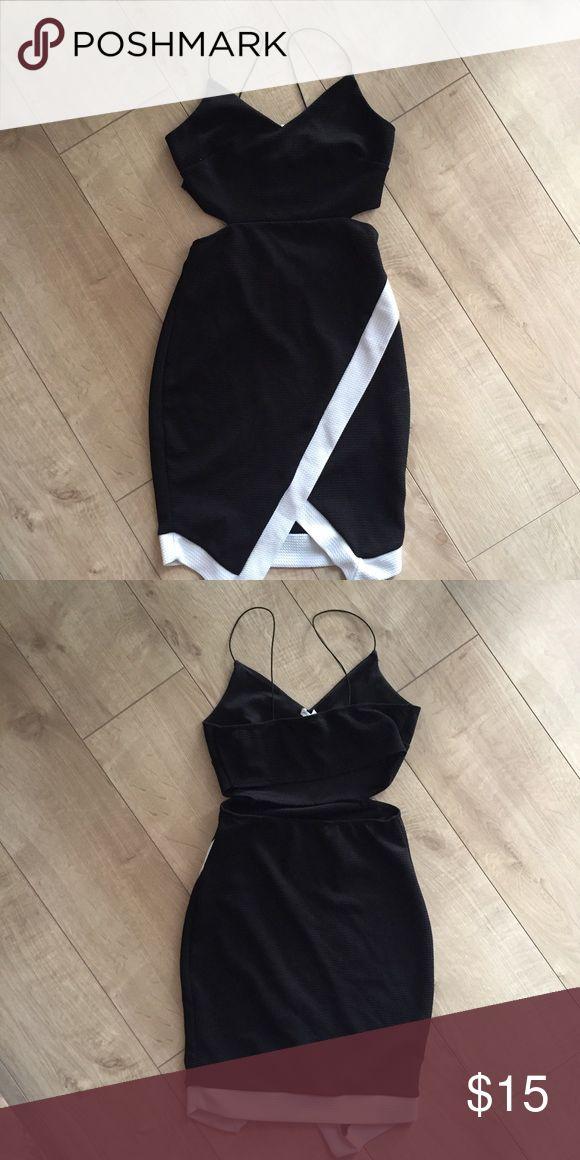 Black and white mini dress Black and white mini dress from charlotte russe Charlotte Russe Dresses Mini