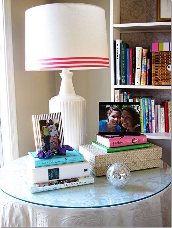 Lamp-shade with ribbon trim, tutorial