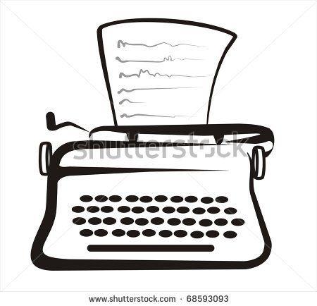 simple drawing of typewriter   Simple Drawings ...