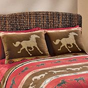 Western Horse Bedroom Pillow Shams