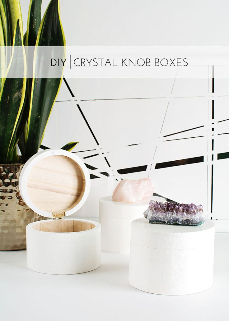 DIY Crystal Knob Boxes - easy and beautiful gift idea