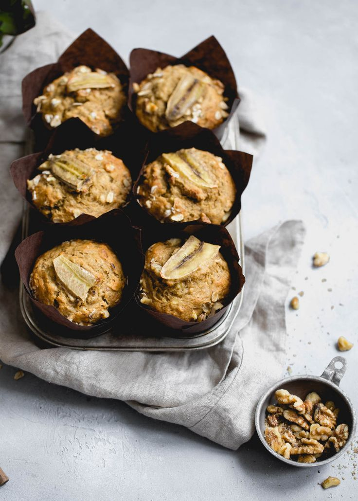 Magical Whole Wheat Banana Nut Muffins
