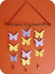 Click to Close mobile de patchwork borboleta