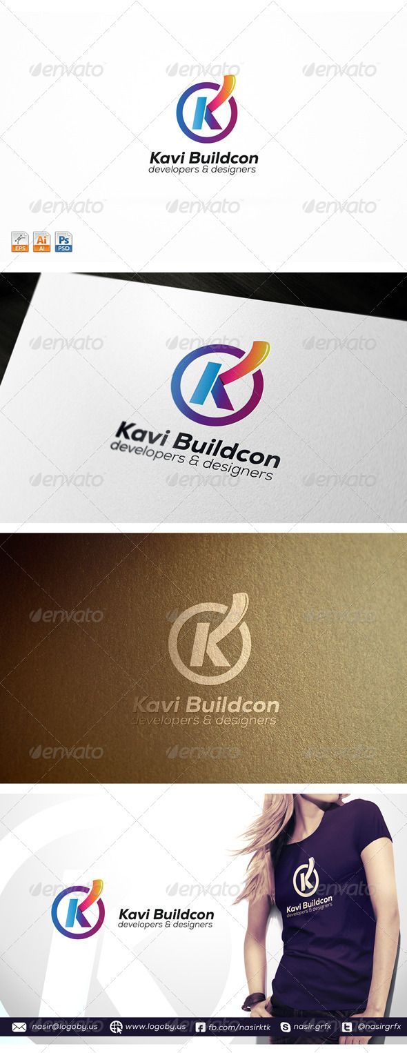 Letter K  Logo Template — Photoshop PSD #clean #k logo • Available here → https://graphicriver.net/item/letter-k-logo-template/8695493?ref=pxcr