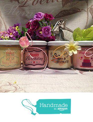 💝🎂🍯 #auguri #buon #compleanno #vasetti #ceradisoia #oliessenziali #idearegalo #amazon #handmade Auguri Buon Compleanno 4 vasetti con candele di cera di soia e oli essenziali da GioCandles https://www.amazon.it/dp/B073SZYRB7/ref=hnd_sw_r_pi_dp_4Iqyzb6DENA85 #handmadeatamazon