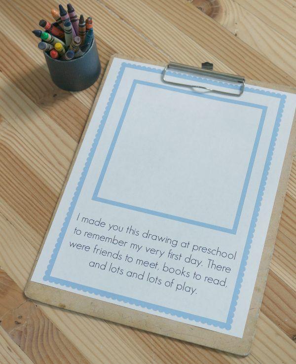 first day of school printable keepsake