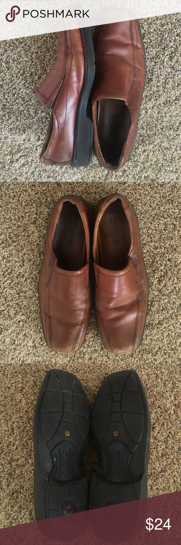 Men's Ecco slip on loafer shoe Excellent quality! With a little shoe polish these could be like new. Size 44 which is U.S size 11 Ecco Shoes Loafers & Slip-Ons