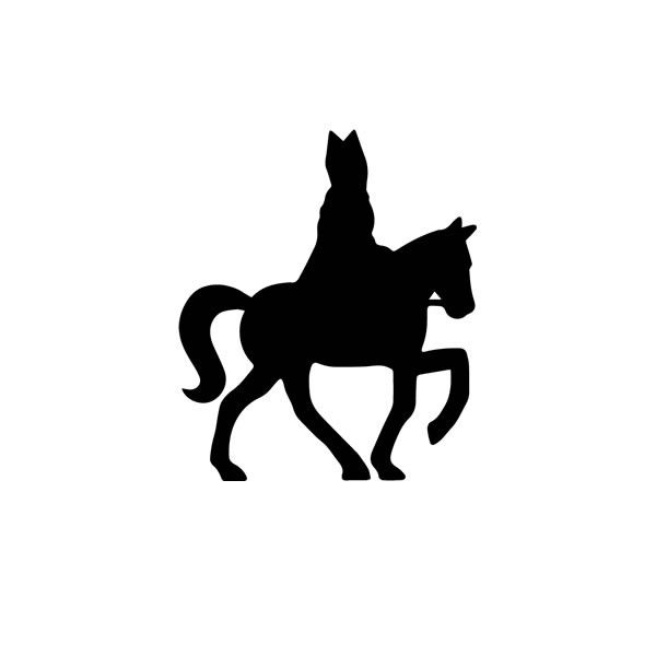 Sinterklaas silhouet zwart 5 cm